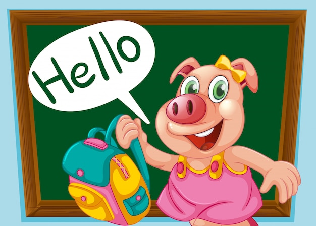 Un personnage de cochon mignon