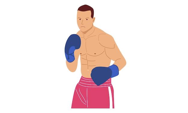 Personnage de combattant de boxe