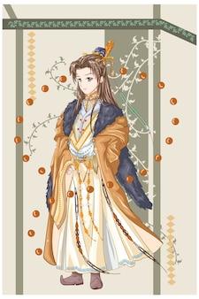 Personnage de conception un roi empereur d'un ancien royaume
