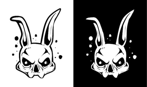 Personnage de crâne de lapin