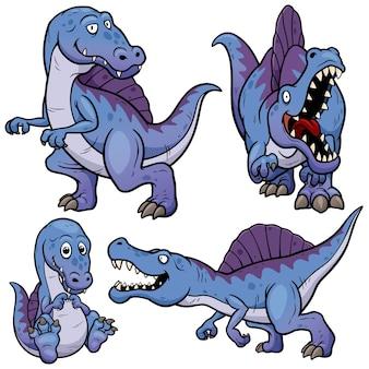 Personnage de dessin animé de dinosaures