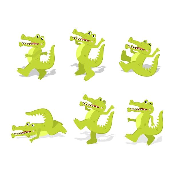 Personnage de dessin animé aligator