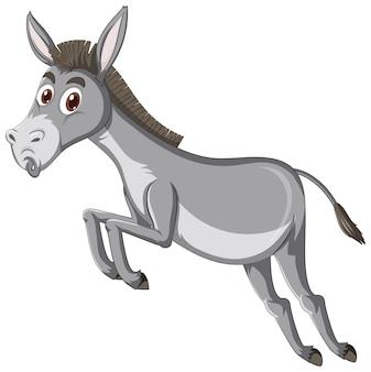 Personnage de dessin animé animal âne
