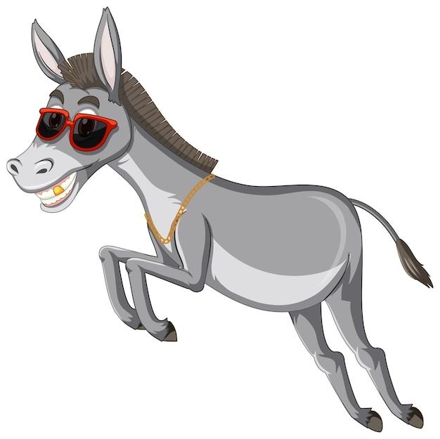 Personnage de dessin animé animal drôle d'âne