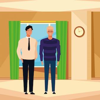 Personnage de dessin animé avatar hommes
