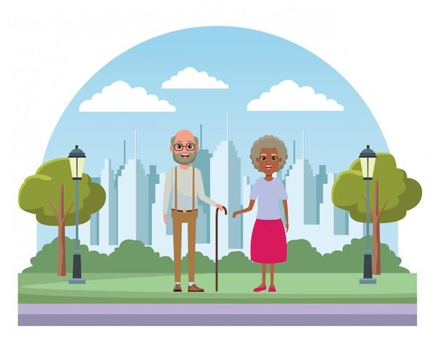 Personnage de dessin animé avatar personnes âgées