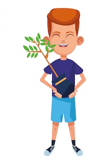 Personnage de dessin animé avatar petit enfant