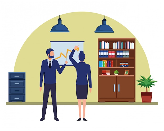 Personnage de dessin animé d'avatars de gens d'affaires