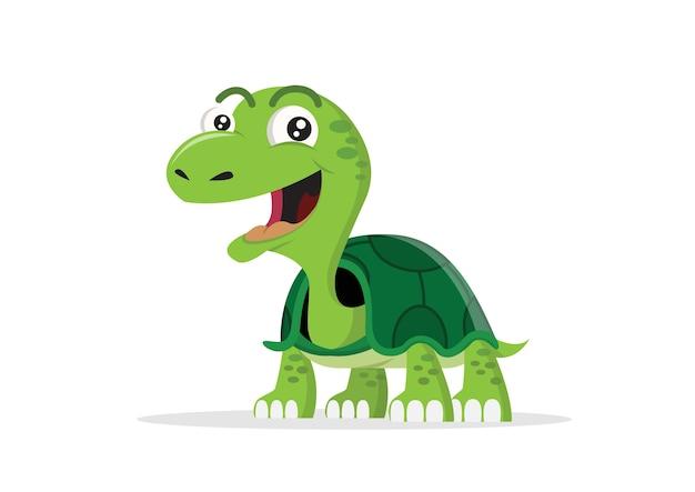 Personnage de dessin animé bonne tortue.