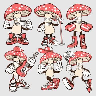 Personnage de dessin animé de champignon
