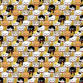 Personnage de dessin animé chanceux chaton maneki neko