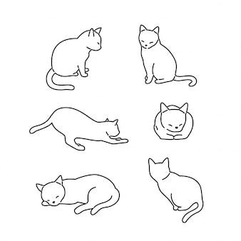 Personnage de dessin animé chat chaton