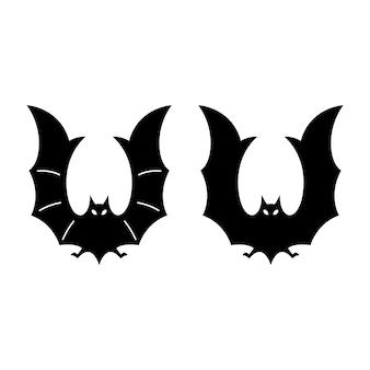 Personnage de dessin animé de chauve-souris halloween