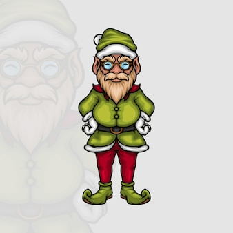 Personnage de dessin animé chef elfe