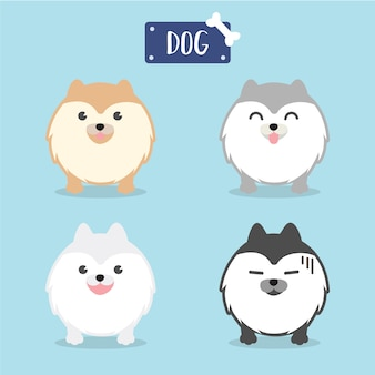Personnage de dessin animé chien de poméranie