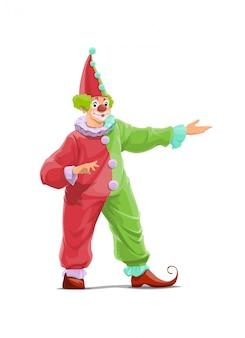 Personnage de dessin animé de clown de cirque big top