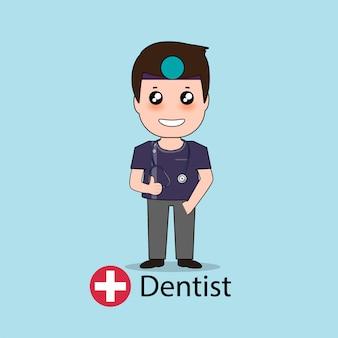 Personnage de dessin animé de dentiste