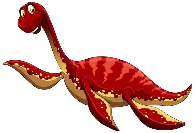 Un personnage de dessin animé de dinosaure pliosaurus