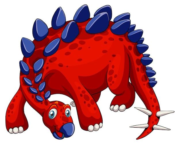 Un personnage de dessin animé de dinosaure stégosaure