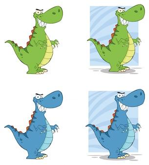 Personnage de dessin animé de dinosaure