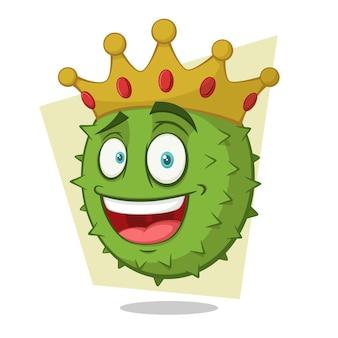 Personnage de dessin animé drôle durian king