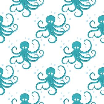Personnage de dessin animé drôle de poulpe pour pépinière de décoration, vêtements pour enfants de conception, tissu, emballage, textile, papier peint.