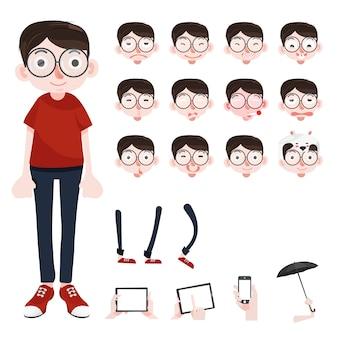 Personnage de dessin animé drôle