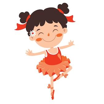 Personnage de dessin animé effectuant un ballet classique