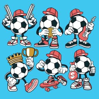 Personnage de dessin animé de football