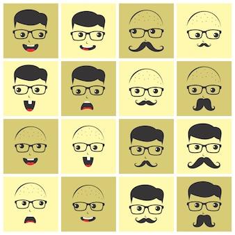 Personnage de dessin animé geek