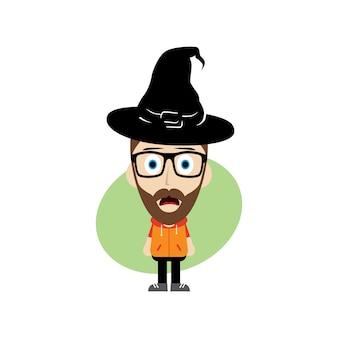 Personnage de dessin animé halloween