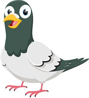 Personnage de dessin animé happy pigeon
