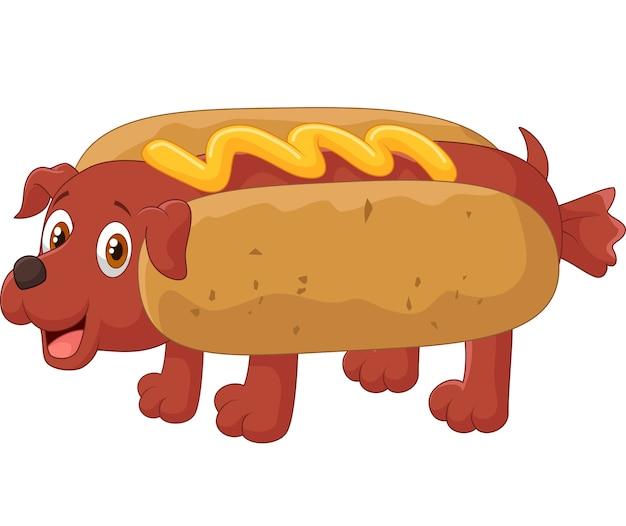 Personnage de dessin animé de hot-dog