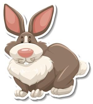 Personnage de dessin animé de lapin sur fond blanc