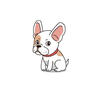 Personnage de dessin animé mignon bouledogue français