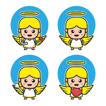Personnage de dessin animé mignon de cupidon