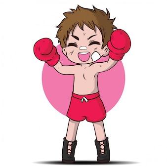 Personnage de dessin animé mignon garçon thaïlandais.