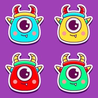 Personnage de dessin animé mignon monstre
