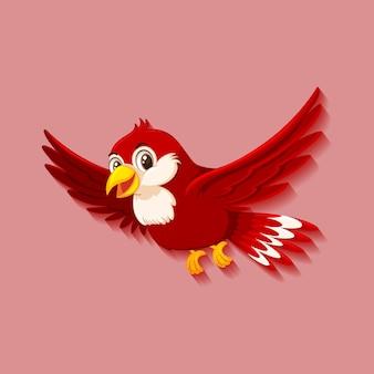Personnage de dessin animé mignon oiseau rouge