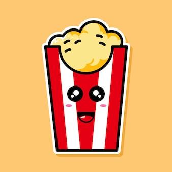 Personnage de dessin animé mignon pop corn