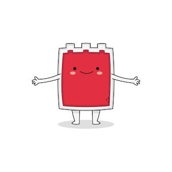 Personnage de dessin animé mignon sac de sang