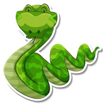 Personnage de dessin animé de serpent sur fond blanc