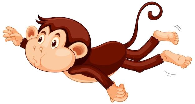 Personnage de dessin animé de singe flottant