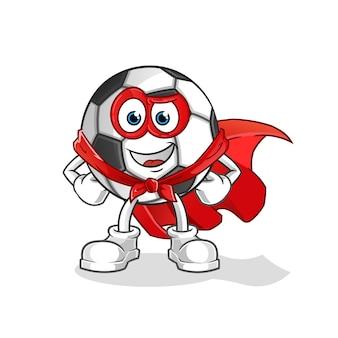 Personnage de dessin animé de vecteur de héros de balle