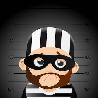 Personnage de dessin animé de voleur