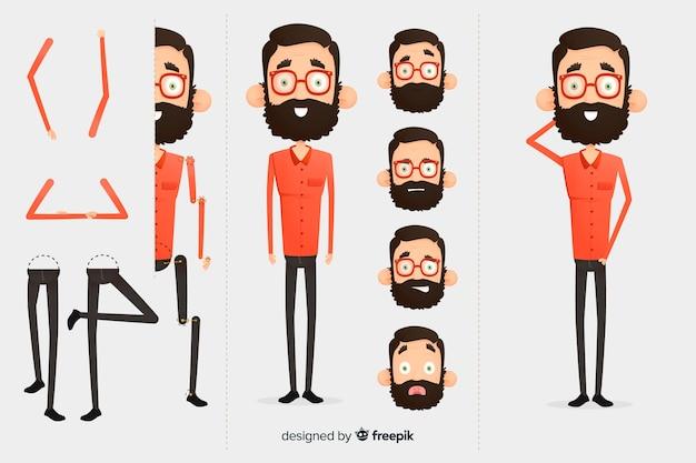Personnage de dessin animé