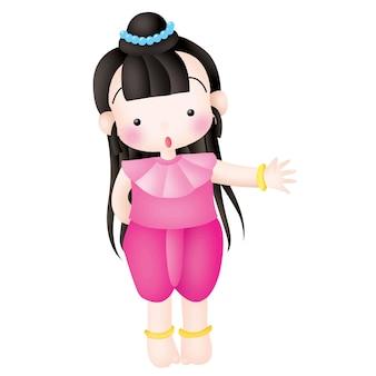 Personnage de dessins animés pour enfants thaïlandais