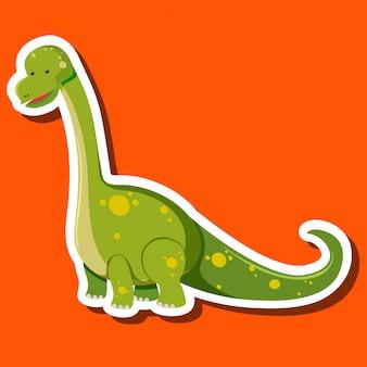 Un personnage de dinosaure autocollant