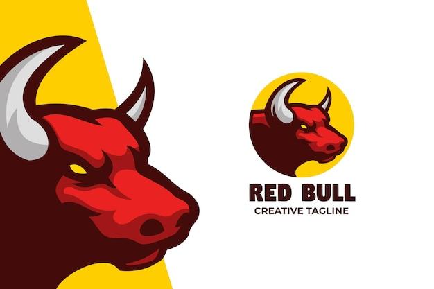 Personnage du logo mascotte red bull e-sport