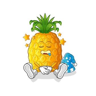 Personnage endormi ananas